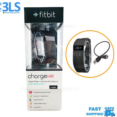 Fitbit Charge HR Tracker Activity Fitness Wristband HR Heart Rate Black Large