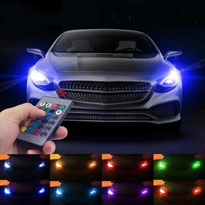 RGB T10 W5W Led Car parking lights SMD RGB Licence plate 2 Bulbs with 1 Remote, used for sale  India