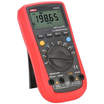 Uni-t Ut61e Rs-232 Digital Multimeter Ncv Capacitance Resistance Meter Acdc Ohm