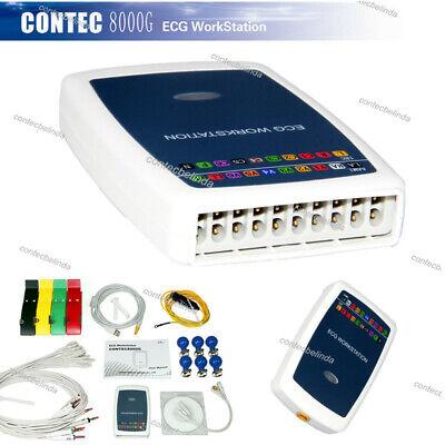 Contec 12 Lead Resting Ecgekg System Workstation Machine Recorder Software New
