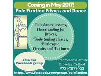 Pole dancing lessons, toning and fitness classes in Broseley, Telford