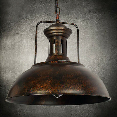 Nautical pendant lightebay 1 16 industrial nautical barn pendant light lamp with rustic domebowl shape mozeypictures Gallery