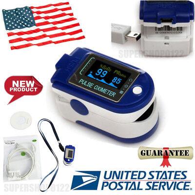 Usa Finger Pulse Oximeterblood Oxygenspo2 Monitor 24hour Recorder Usb Software