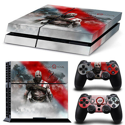 PS4 Playstation 4 Console Skin Decal Sticker God Of War + 2...