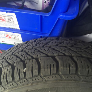 1 yr old winter tires with steel rims Prince George British Columbia image 2