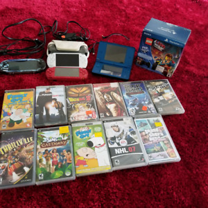 Various  hand held game consoles