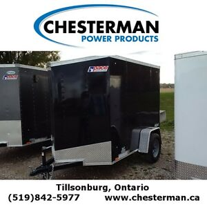 2016 Pace 5x8 Outback V-Nose Cargo Trailer - Rear Ramp London Ontario image 1