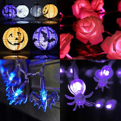 Halloween Pumpkin Bat (Halloween LED Paper Lantern Pumpkin Spider Bat Hanging Night Light Party)