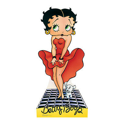 BETTY BOOP IN RED DRESS Marilyn Monroe CARDBOARD CUTOUT Standee Standup Prop F/S