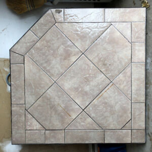 """Stove Pad/Hearth 40"""" X 40"""" - Tiled - Solid Construction"""