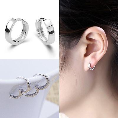 Hot New Women Fashion Jewelry 925 Sterling Silver Very Small Stud Hoop Earrings