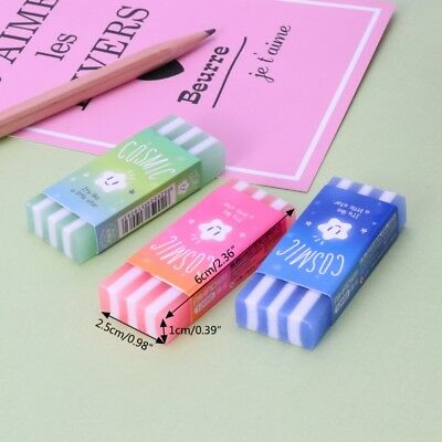 Cute Rubber Colored Stripe Pencil Erasers Star Jelly For Kids School Supplies  - School Supplies For Kids