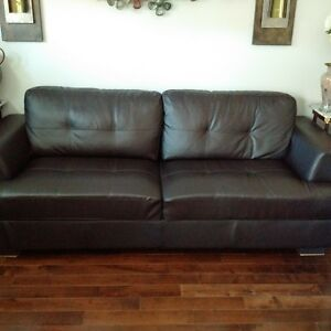 Sofa Leather brown color