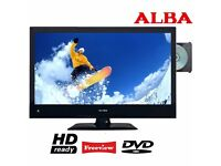 "Alba 19"" Inch HD LED LCD TV DVD Combi - HDMI - SCART - Remote - Full working order - RRP £119.99"
