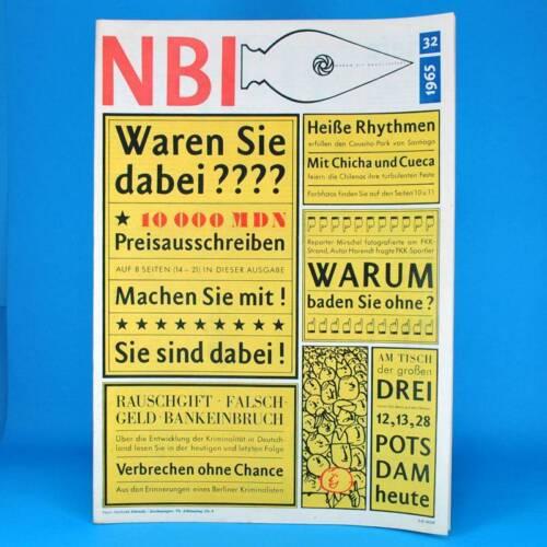 DDR NBI 32/1965 - Kriminalität FKK Bansin Ückeritz Afghanistan Berliner Ensemble