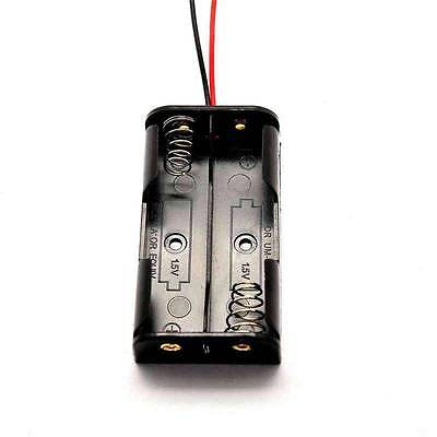 2pcs 2aa 3v Battery Holder Box Case With Wire Without Cover 2xaa 2x1.5v