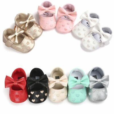 0-18M Newborn Baby Girl Soft Crib Shoes Infants Anti-slip Sn