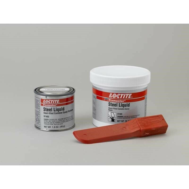 LOCTITE (235617) Gray Steel Filled Self-Leveling 1 lb. Liquid Kit 6000 psi