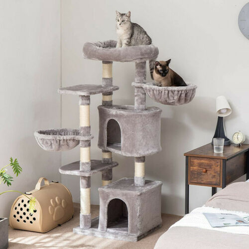 Cat tree Tower Great For Multiple Cats Scratcher Play House Condo Pet House