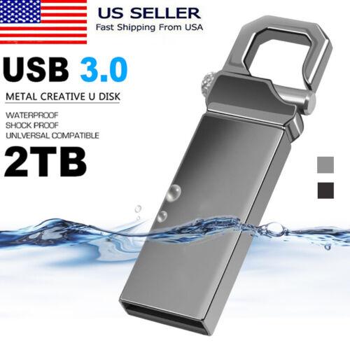 2TB USB 3.0 U Disk Flash Drives Memory Metal Flash Drive Pen
