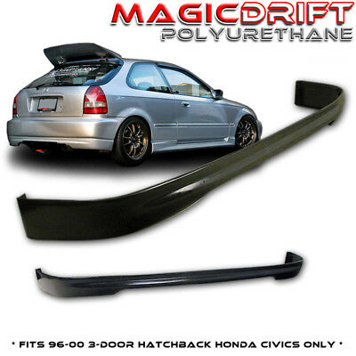 For 96-00 Honda Civic EK9 Type R CTR REAR Bumper PU Lip 3DR Hatchback (Urethane) Civic Hatchback Body Kits