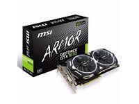 GTX 1070 MSI ARMOR OC 8GB