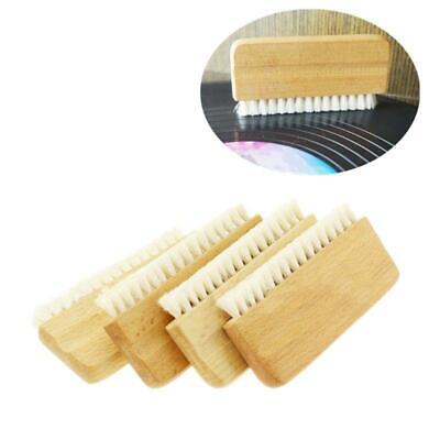 LP Vinyl Record Cleaning Brush Anti-static Goat Hair Wood Handle Brush Cleaner