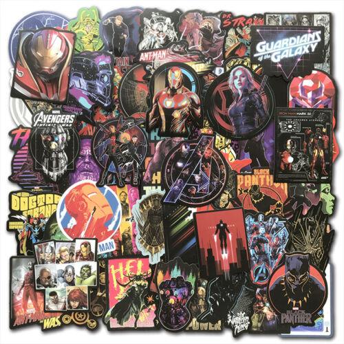 30//60 Pcs Stickers MARVEL Avengers Super Hero For Car Laptop Skatboard Decal