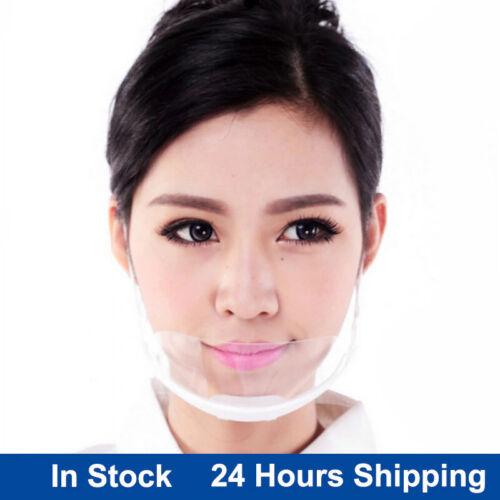 10 PCS Clear Face Mask - Reusable Adjustable & Transparent Unisex COVER- Shield