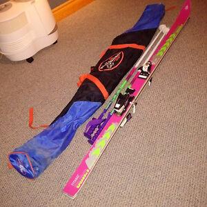 TITANAL VOLKL SKIS SKINETIC (180), SALOMON  BINDINGS, POLES, BAG