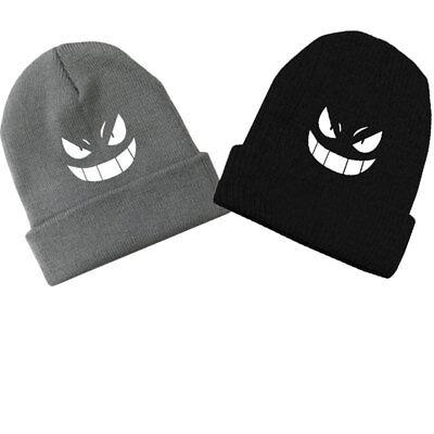 Fashion Anime Gengar Skull Beanie Knitted Ski Cap Hip-Hop Warm Cosplay Hat Gift