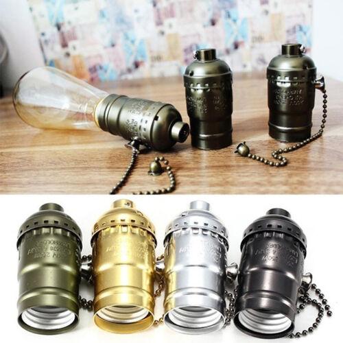 Screw Lamp Socket Light Socket Base Holder with Pull Chain S