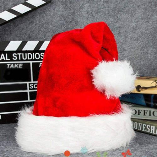 Luxury Father Christmas Santa Hat Deluxe Xmas With Snow Bobb