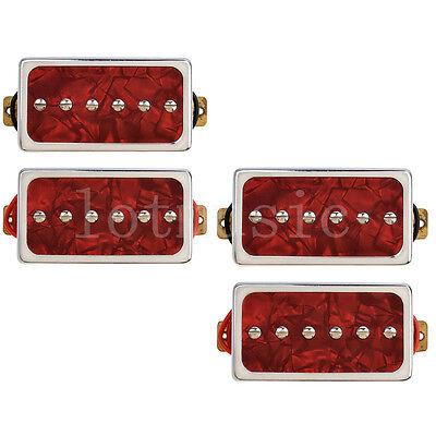 2 Individual Bobina Camionetas Puente Cuello Juego Para Guitarra Eléctrica Rojo