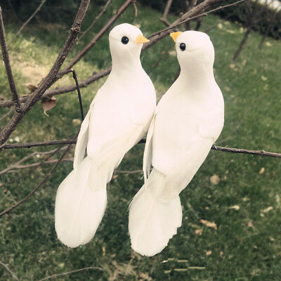 Artificial Foam Feather Bird Small White Dove Craft Gift Wedding Decor Supplies