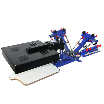 3 Color Screen Printing Press Machine With Rotary Dryer Micro-registration Color