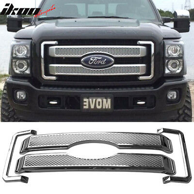 Fits 11-16 Ford F250 350 450 Super Duty Platinum Style Moulding Front Mesh