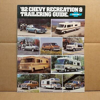 1982 Chevy Recreation & Trailering Guide Campers RVs Motor Homes Camping Van
