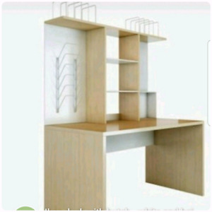 saver office wall org desk ikea hutch with ilecip floating standing shelves mounted storage and computer furniture space small