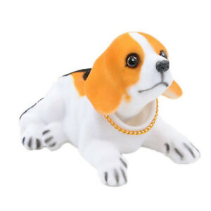 WonSystem Dog Doll Shaking  Head Puppy Cute Decorations(Beagle)