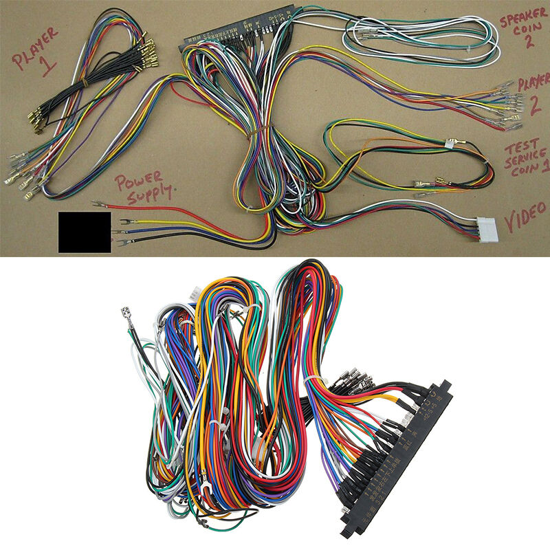 Details about 60 in 1 JAMMA Wiring Harness Multicade Arcade Game Cabinet on