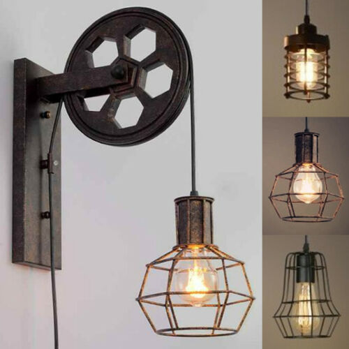 Industrial Rustic Wall Lamp Single Cage Wall Light Hallway W