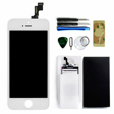 For iPhone 5s White LCD Touch Screen Digitizer Glass Assembly Replacement Kit
