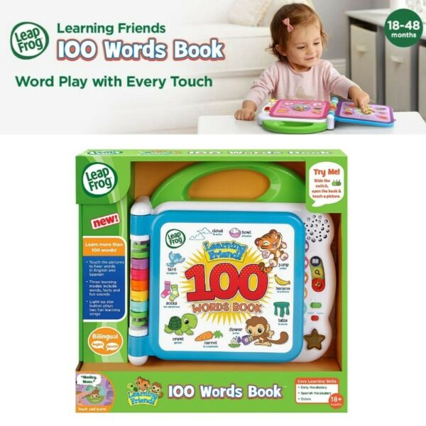BNIB: LeapFrog Learning Friends 100 Words Book, Green