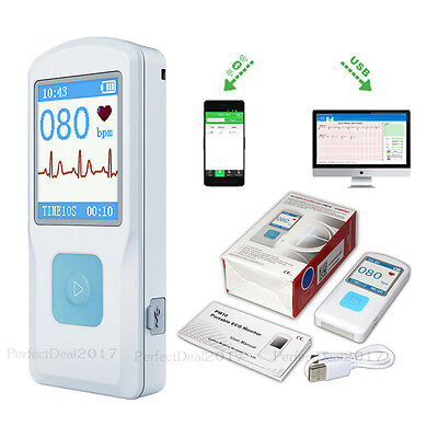 Us Stockportable Ecg Ekg Monitorhr Monitor With Usbbluetoothfinger Touching