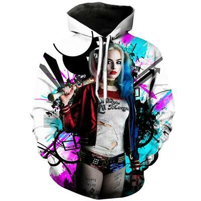Harley Quinn Joker 3D print Hoodie Men Women Casual Sweatshirt Pullover Tops ()