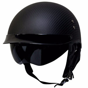Carbon Fiber DOT Half Helmet