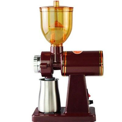 110V Coffee Grinder Home Electric Coffee Bean Grinder Advanced Small Commer Red