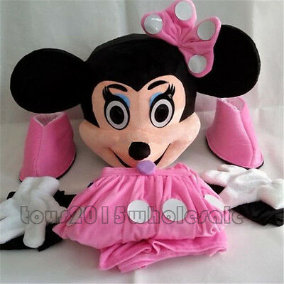Minnie Mouse Adult Mascot Costume Halloween Party Cosplay Fancy Dress Outfit Hot (Hot Celebrities Halloween Costumes)