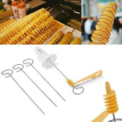 Potato Twister Tornado Slicer Manual Cutter Spiral Chips Kitchen Cook Maker